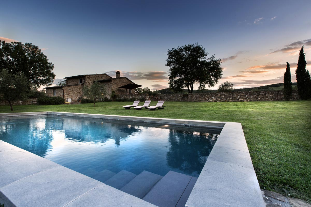 Outdoor pool by a Chianti Villa