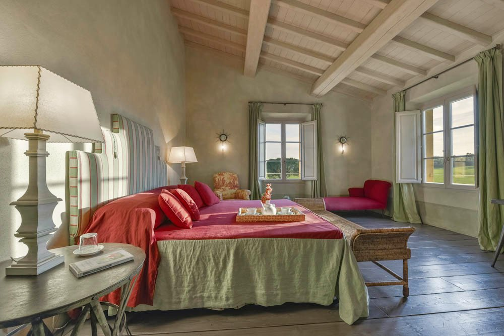 Bedroom in a Maremma villa